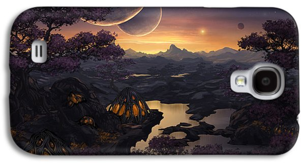 Phantasie Galaxy S4 Cases - Mirror Lakes Galaxy S4 Case by Cassiopeia Art