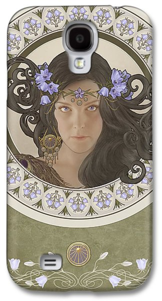 Phantasie Galaxy S4 Cases - Miss Bluebell Galaxy S4 Case by Cassiopeia Art