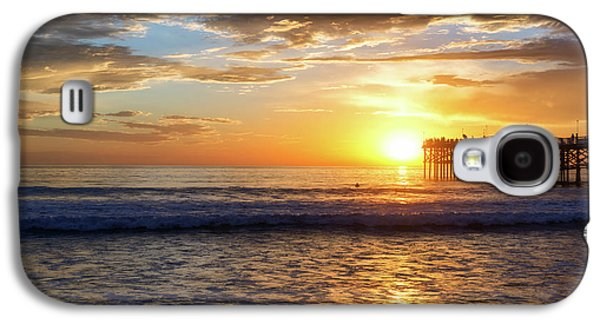 Sun Galaxy S4 Cases - Mission Beach Sunset Galaxy S4 Case by Joseph S Giacalone