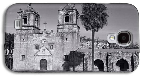 Historical Buildings Galaxy S4 Cases - Mission Concepcion -- BW Galaxy S4 Case by Stephen Stookey