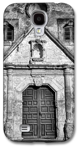 Christian Galaxy S4 Cases - Mission Concepcion Entrance - BW Galaxy S4 Case by Stephen Stookey