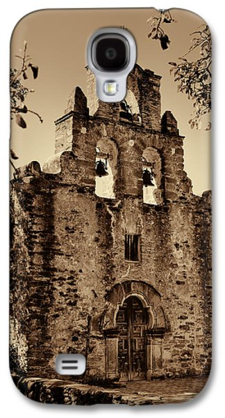 Historical Buildings Galaxy S4 Cases - Mission Espada -- Sepia Galaxy S4 Case by Stephen Stookey