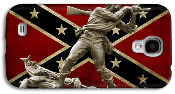 Mississippi Monument And Confederate Flag Galaxy S4 Case by Randy Steele