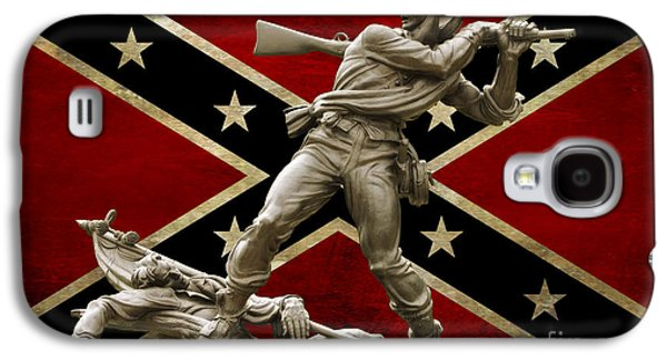 Statue Of Confederate Soldier Galaxy S4 Cases - Mississippi Monument and Confederate Flag Galaxy S4 Case by Randy Steele