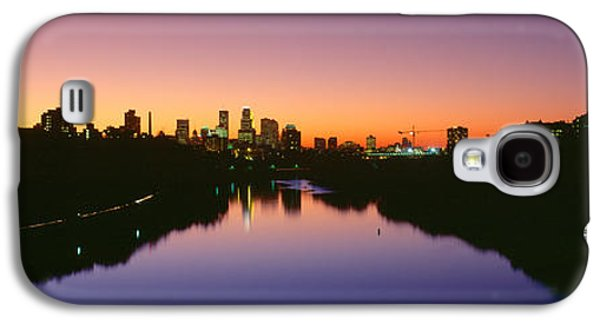 Landscapes Photographs Galaxy S4 Cases - Mississippi River, Minneapolis, Sunset Galaxy S4 Case by Panoramic Images