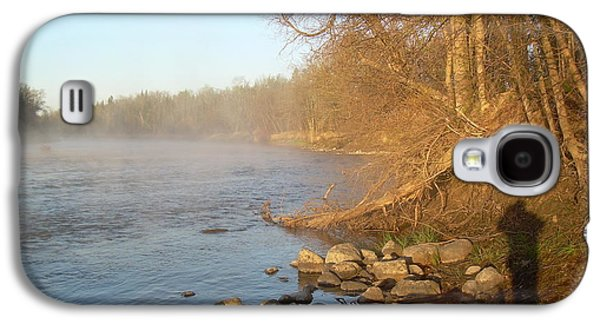 Waterscape Pyrography Galaxy S4 Cases - Mississippi river Shades of Fog Galaxy S4 Case by Kent Lorentzen