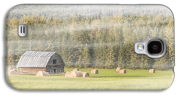 Haybale Galaxy S4 Cases - Misty Morning Haybales Galaxy S4 Case by Patti Deters