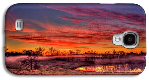 Misty Morning Other Worldly Sunrise Galaxy S4 Case by Reid Callaway