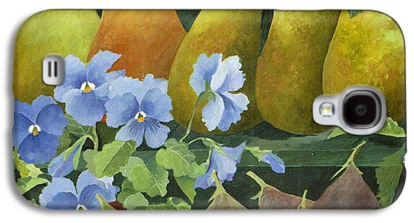 Pears Paintings Galaxy S4 Cases - Mixed fruit Galaxy S4 Case by Jennifer Abbot