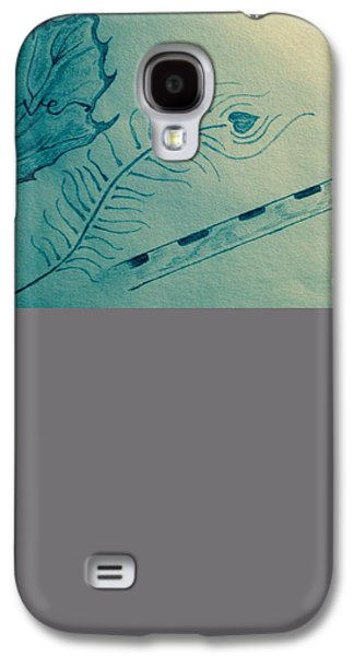 Religious Drawings Galaxy S4 Cases - Maa Katyayini Galaxy S4 Case by Navroz  Raje