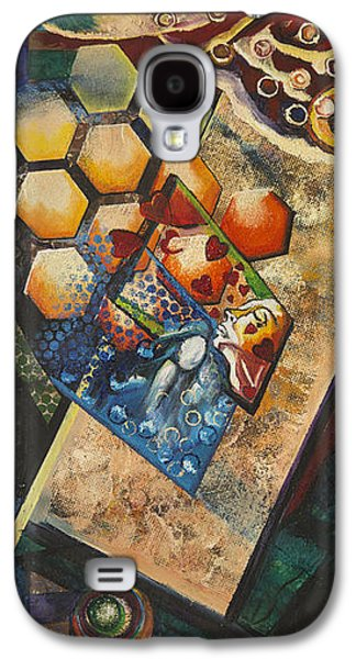 Abstract Digital Paintings Galaxy S4 Cases - Mms Galaxy S4 Case by Vipula Saxena