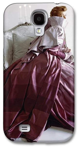 Ball Gown Galaxy S4 Cases - Model In Adrian Coat Of Rymond-holland Galaxy S4 Case by Conde Nast
