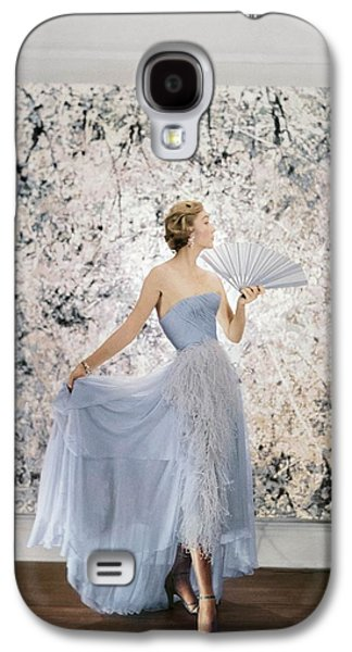 Ball Gown Galaxy S4 Cases - Model Wearing A Pale Blue Ball Gown Galaxy S4 Case by Conde Nast