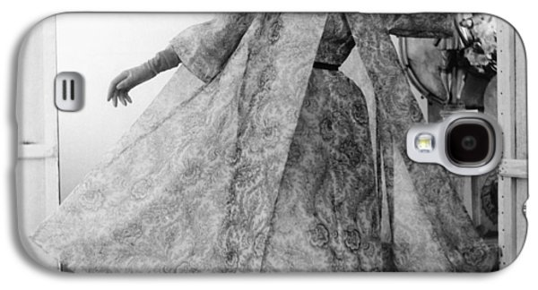 Ball Gown Galaxy S4 Cases - Model Wearing Paisley Silk Organdy Galaxy S4 Case by Conde Nast