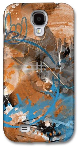 Abstract Digital Mixed Media Galaxy S4 Cases - Modern-Art Beyond Control II Galaxy S4 Case by Melanie Viola