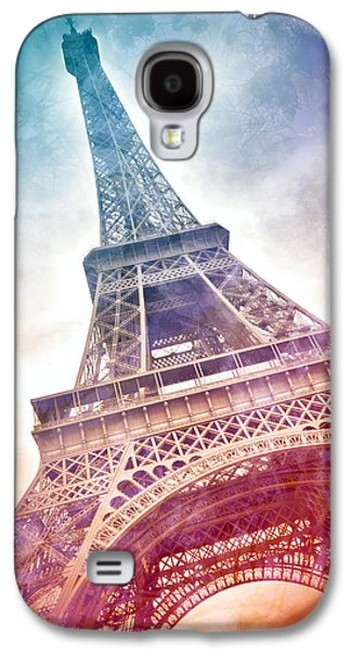 Vertical Digital Art Galaxy S4 Cases - Modern-Art EIFFEL TOWER 21 Galaxy S4 Case by Melanie Viola