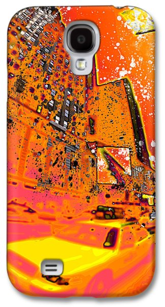 Manhattan Street Galaxy S4 Cases - Modern Art NYC Times Square I Galaxy S4 Case by Melanie Viola