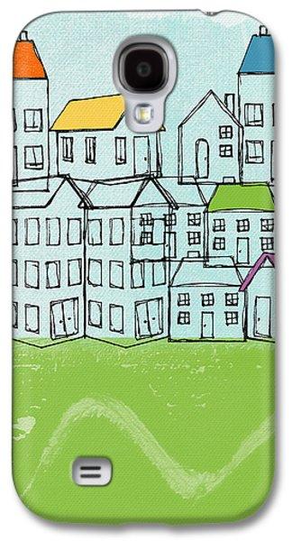 Modern Village Galaxy S4 Case by Linda Woods