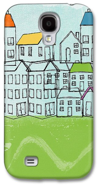 Abstracted Galaxy S4 Cases - Modern Village Galaxy S4 Case by Linda Woods