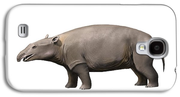 Hippopotamus Digital Galaxy S4 Cases - Moeritherium Is A Proboscidian Galaxy S4 Case by Nobumichi Tamura