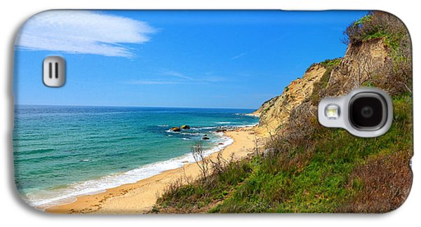 Staircase Paintings Galaxy S4 Cases - Mohegan Bluffs Block Island Galaxy S4 Case by Lourry Legarde