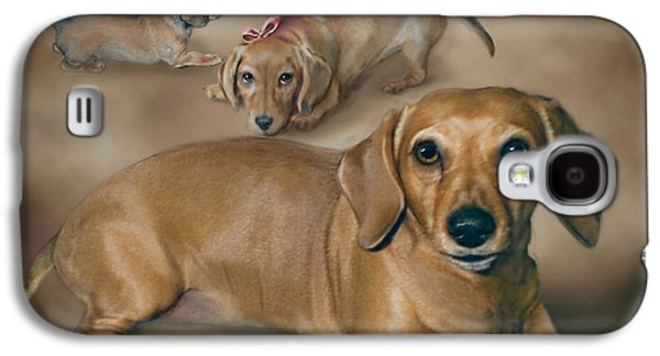 Best Sellers -  - Puppy Digital Art Galaxy S4 Cases - Molly Galaxy S4 Case by Barbara Hymer