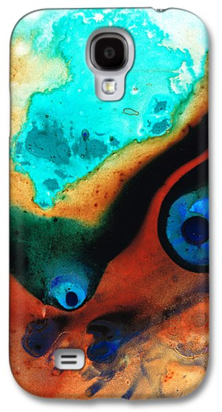 Colorful Abstract Galaxy S4 Cases - Molten Earth Galaxy S4 Case by Sharon Cummings