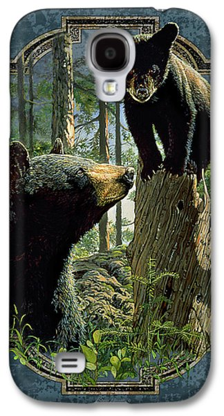 Mom And Cub Bear Galaxy S4 Case by JQ Licensing