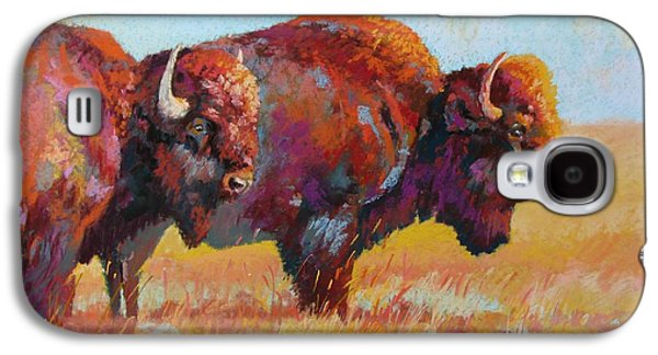 Bison Pastels Galaxy S4 Cases - Monarchs of the Great Plains Galaxy S4 Case by Christine  Camilleri