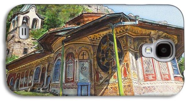 Orthodox Paintings Galaxy S4 Cases - Monastery of The Holy Transfiguration of God  Bulgaria Galaxy S4 Case by Henrieta Maneva