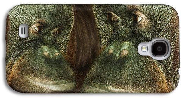 Monkey Love Galaxy S4 Case by Jack Zulli