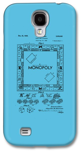 Monopoly Original Patent Art Drawing T-shirt Galaxy S4 Case by Edward Fielding