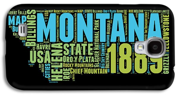 4th Of July Mixed Media Galaxy S4 Cases - Montana Word Cloud 1 Galaxy S4 Case by Naxart Studio