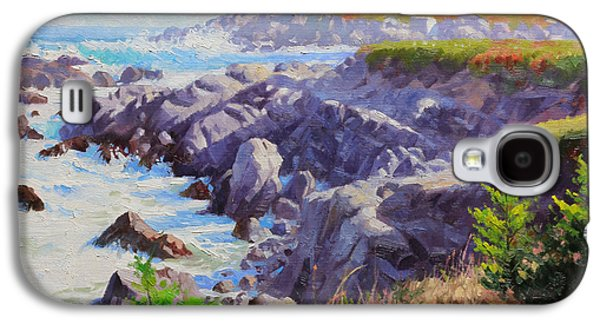 Harbor Paintings Galaxy S4 Cases - Monteray Bay morning 1 Galaxy S4 Case by Gary Kim