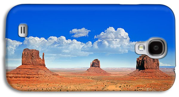 Stone Galaxy S4 Cases - Monument Vally Buttes Galaxy S4 Case by Jane Rix