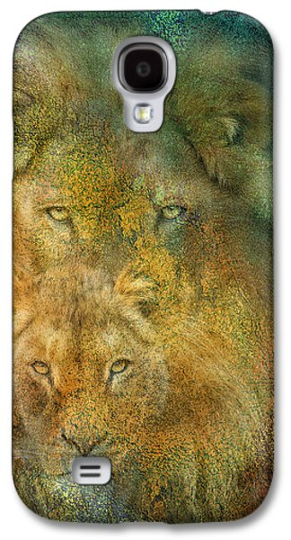 Lions Mixed Media Galaxy S4 Cases - Moods Of Africa - Lions Galaxy S4 Case by Carol Cavalaris