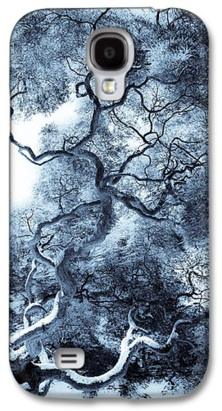 Photo Manipulation Galaxy S4 Cases - Moody Blue Galaxy S4 Case by Colleen Kammerer