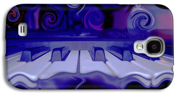 Abstract Expression Galaxy S4 Cases - Moody Blues Galaxy S4 Case by Linda Sannuti