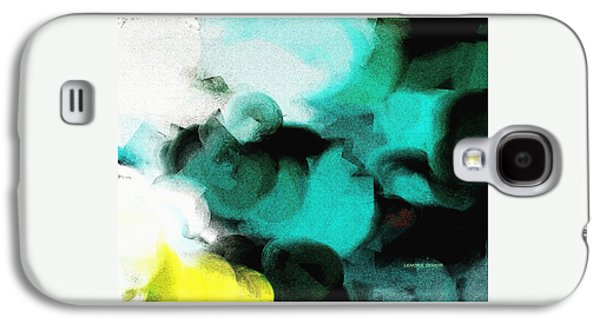 Abstract Nature Galaxy S4 Cases - Moon and Roses Galaxy S4 Case by Lenore Senior
