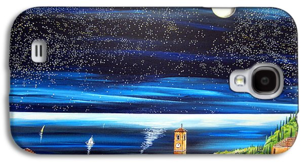 Moon And Stars Over The Village  Galaxy S4 Case by Roberto Gagliardi