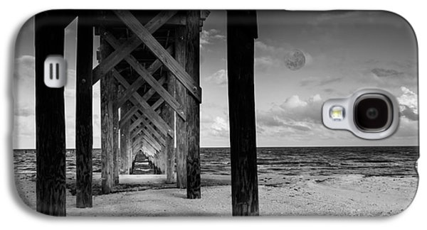 Light Tapestries - Textiles Galaxy S4 Cases - Moon Deck Galaxy S4 Case by James Hennis