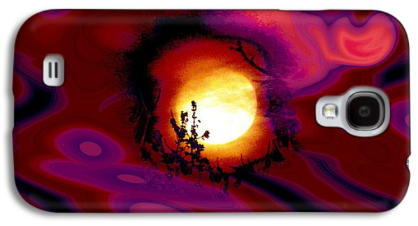 Abstract Digital Mixed Media Galaxy S4 Cases - Moon Lovers Galaxy S4 Case by Stephen  Killeen
