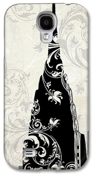 Skylines Paintings Galaxy S4 Cases - Moon Over New York Galaxy S4 Case by Mindy Sommers