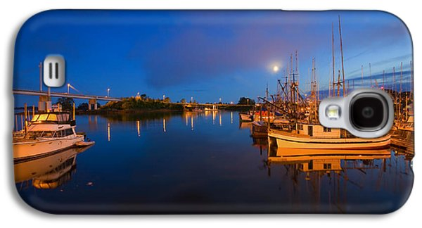 Moonrise Galaxy S4 Cases - Moon over Sitka Marina Galaxy S4 Case by Mike  Dawson