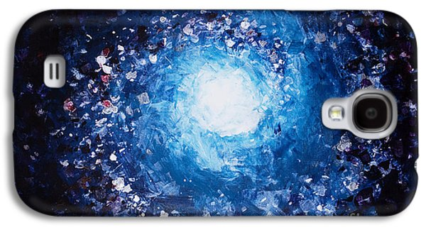 Cosmic Space Paintings Galaxy S4 Cases - Moon Galaxy S4 Case by Tara Thelen - Printscapes