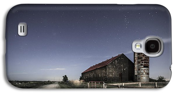 Landscapes Photographs Galaxy S4 Cases - Moonlight farm Galaxy S4 Case by Alexey Stiop