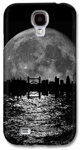 Moonlight London Skyline Galaxy S4 Case by Mark Rogan