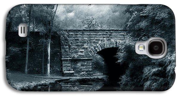 Spooky Digital Galaxy S4 Cases - Moonlight Mood Galaxy S4 Case by Jessica Jenney