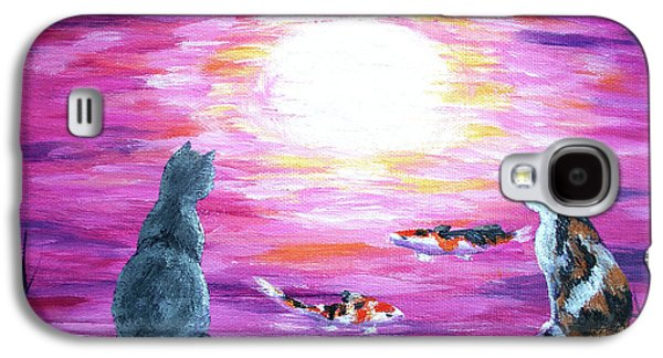 Moonlight On Pink Water Galaxy S4 Case by Laura Iverson