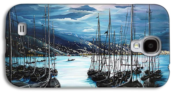 Galaxy S4 Cases - Moonlight Over Port Of Spain Galaxy S4 Case by Karin Kelshall- Best